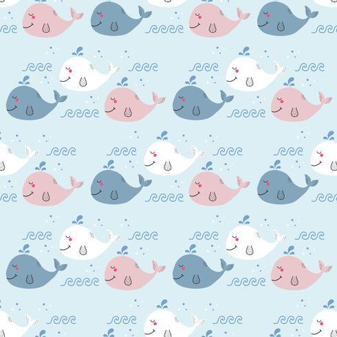 Vector de patrón de ballena