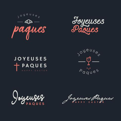 Joyeuses Paques Typography Pack