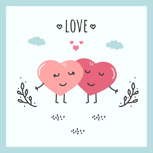Hjärtor I Kärlek Vektor