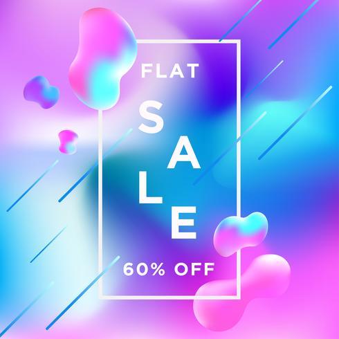 Bannière de vente Liquify Fluid Color background