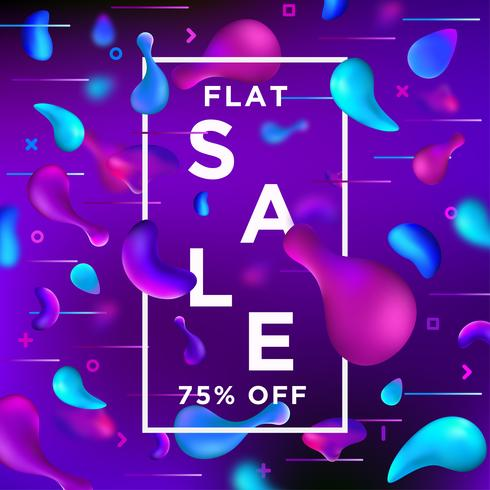 Sale Banner Liquefy Fluid Color background