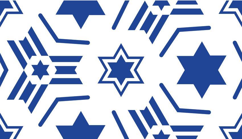 Padrão sem emenda, com uma estrela azul de David.