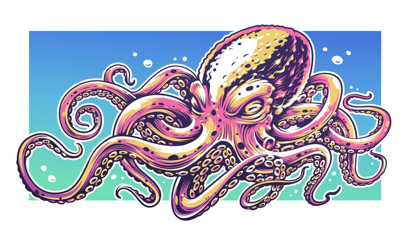Pulpo Graffiti arte vectorial
