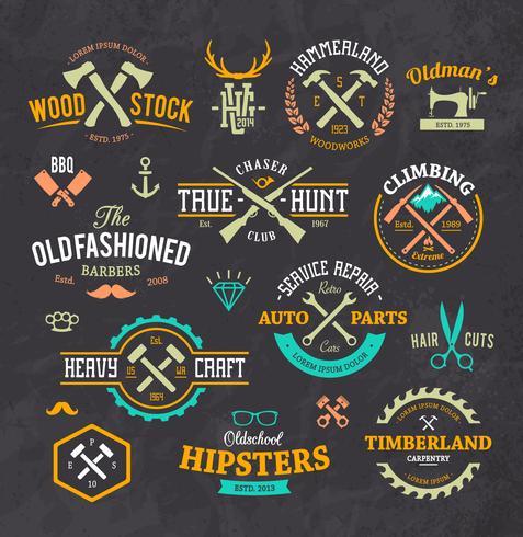 Emblemas con estilo retro