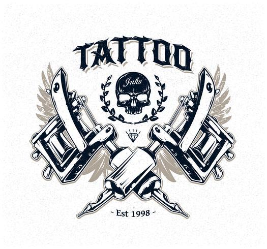 Tattoo Studio Poster vector