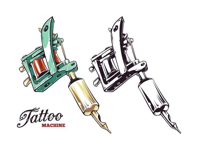Vecteur de machine à tatouer