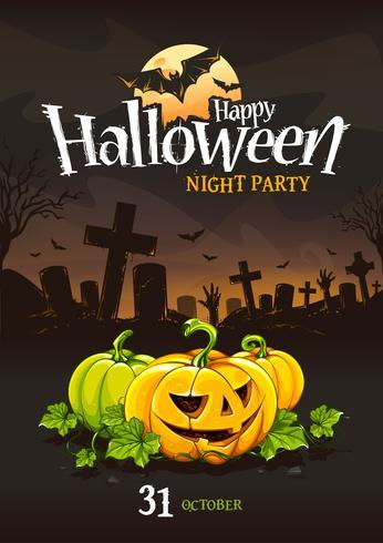 Diseño de cartel de halloween
