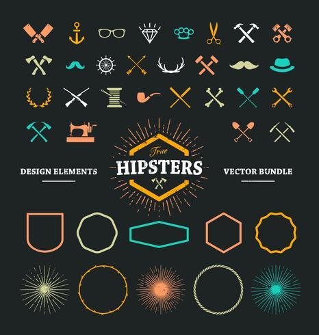 Elementi di design hipster