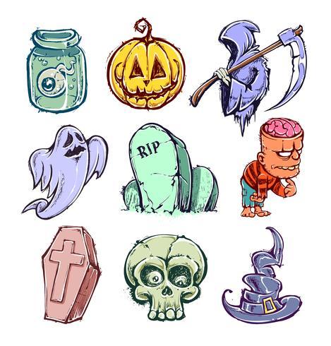 Lustige Halloween-Charaktere vektor