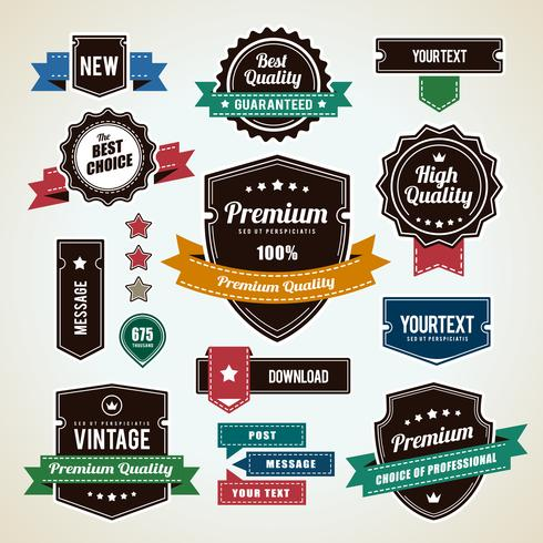 Set di distintivi vintage