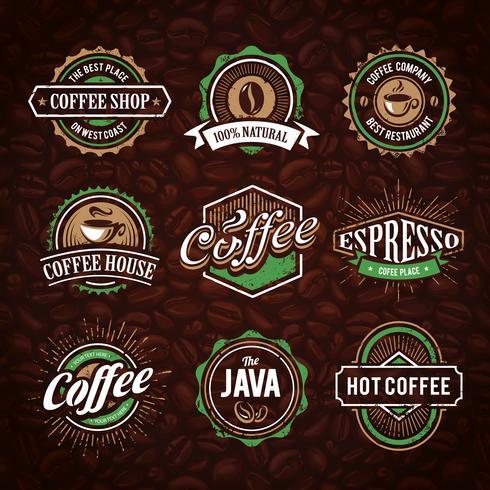Emblemas de café de estilo retro
