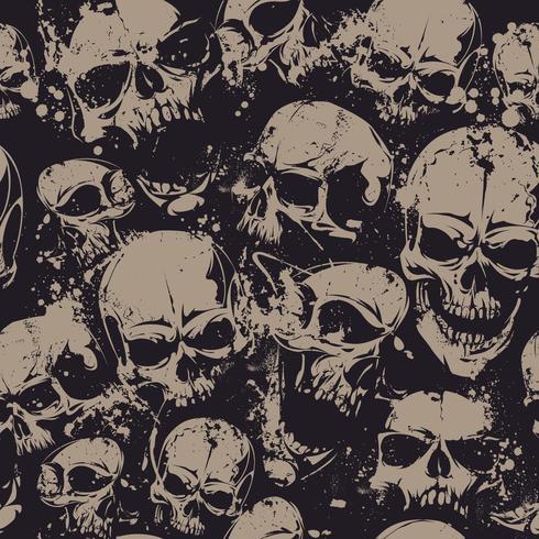 Cráneos de grunge sin costura