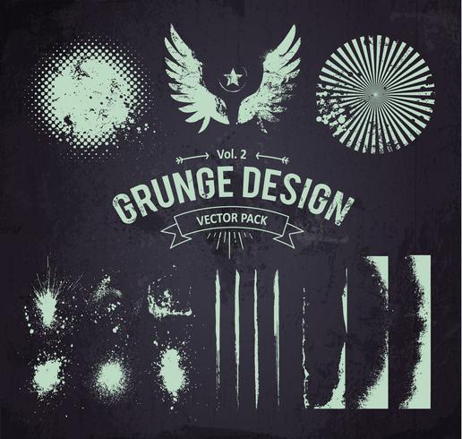 set di elementi di design grunge 2