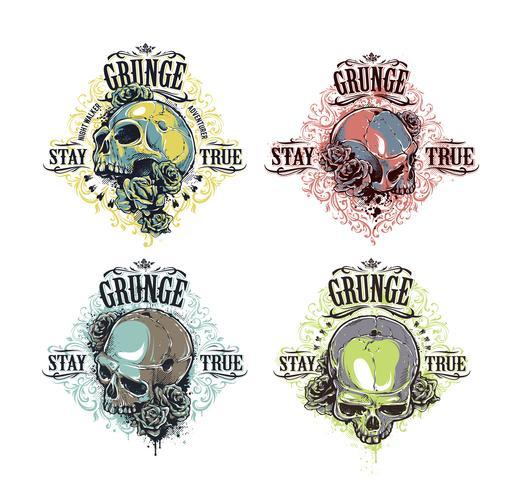 Set di stampe del cranio