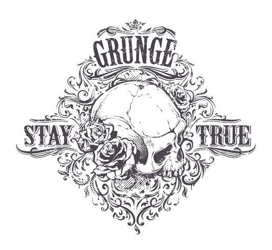 Art du crâne grunge