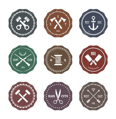 Handwerk Embleme Vektor festgelegt