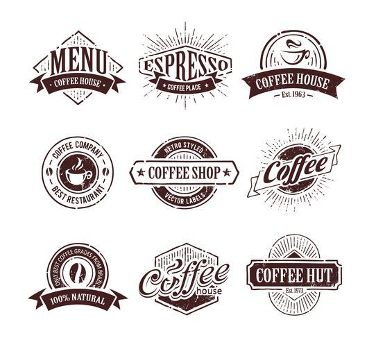 Sellos de café retro