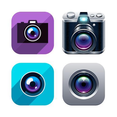 Set di icone di foto app