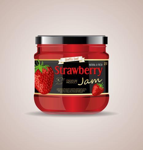 maquette de bocal en verre Strawberry jam