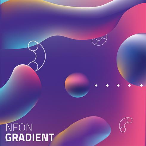 Vätska Neon Gradient Vector Design