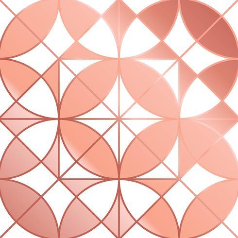 Vetor de fundo abstrato Geomtric Rose Gold