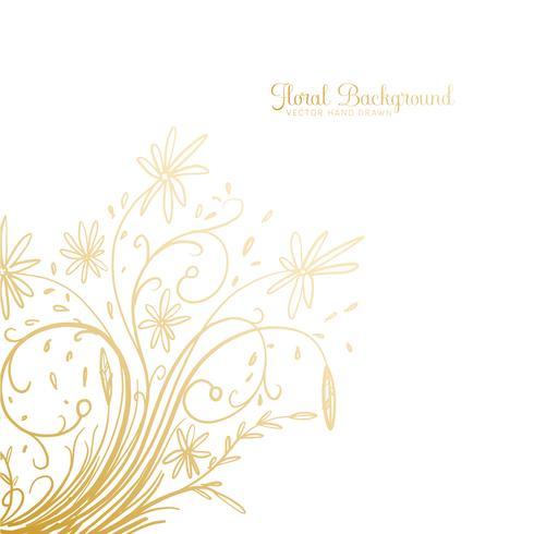 Hand drawn Decorative Floral Background