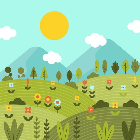 Nature Spring Wallpaper Vector - Download Free Vector Art, Stock Graphics & Images