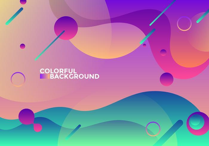 Vettore di sfondo colorato