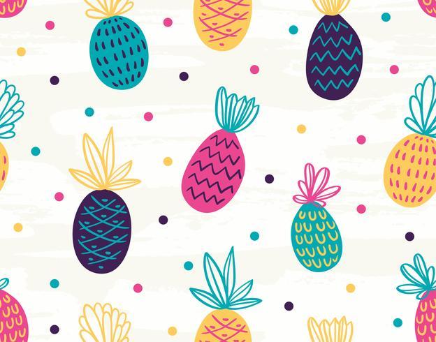 Naadloos ananaspatroon met stippen