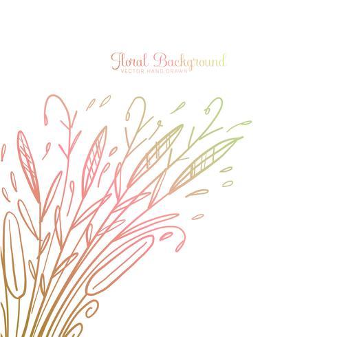 Fond floral décoratif dessiné à la main
