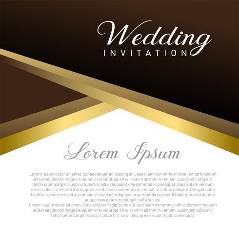 Carte d'invitation de mariage avec place de texte