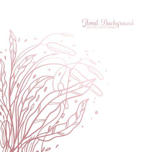 Dibujado a mano de fondo floral decorativo