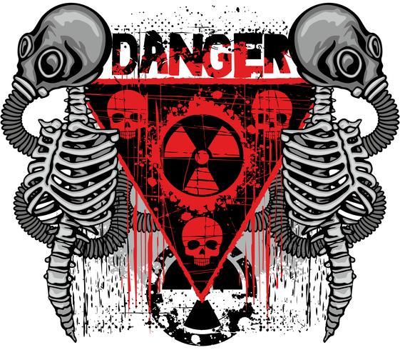 industrial emblem with skull