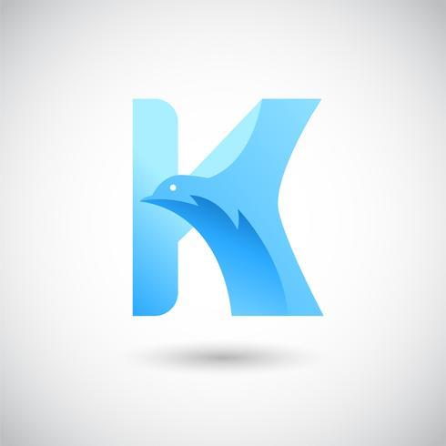 Buchstabe H mit Taube Logo Concept