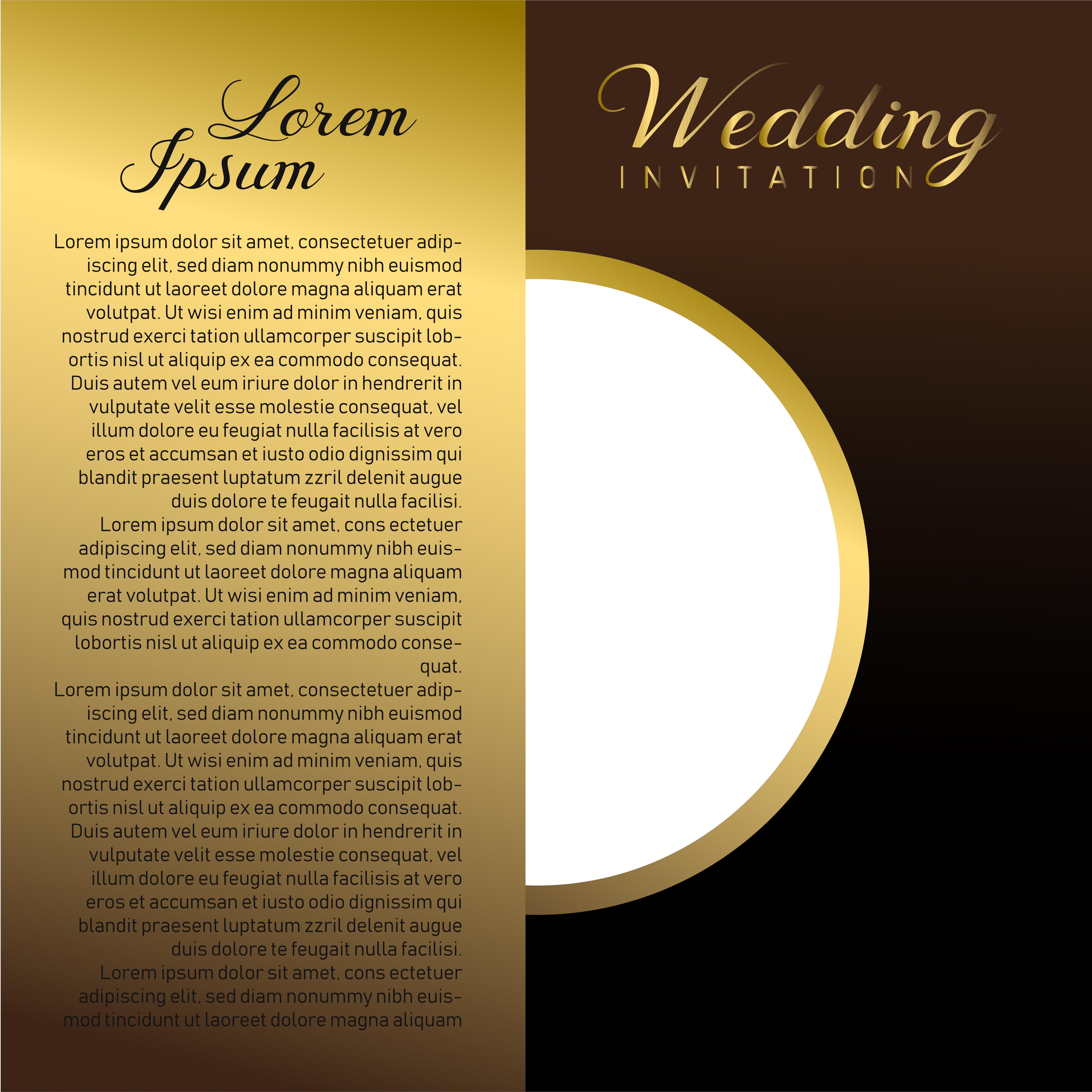 Wedding Invitation Card With Text Place - Download Free ...