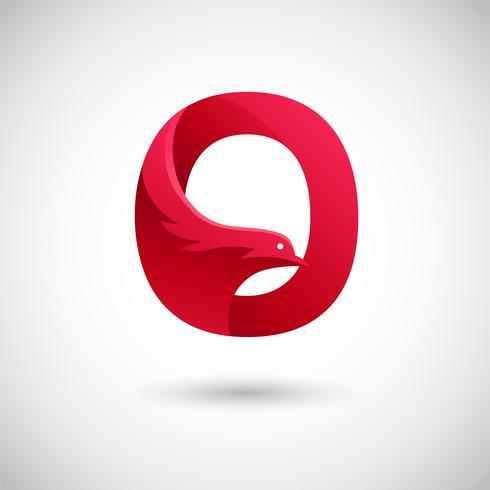 Letter O met Dove Logo Concept