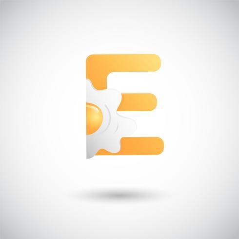 Brev J Med Frukt Logo Concept