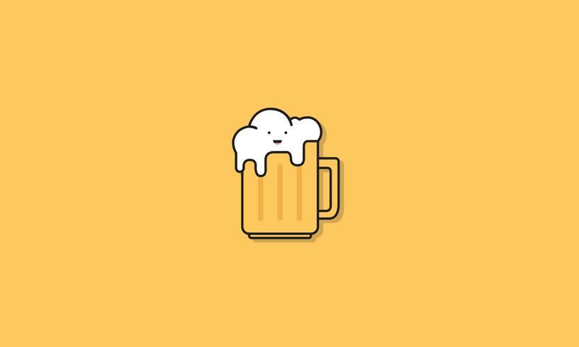 Un verre d'icône de bière
