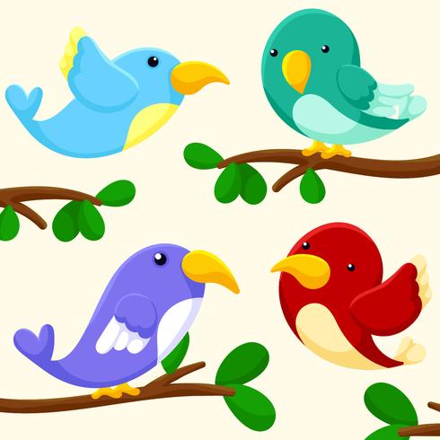 Animated Clipart Birds Background For PowerPoint - Animated PPT Templates