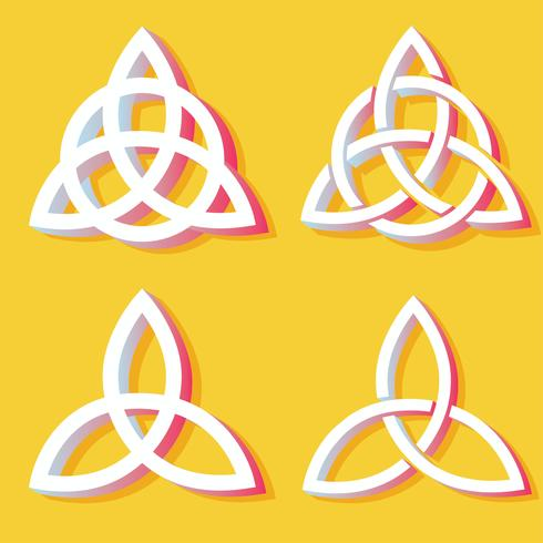 Pacchetto di simboli vettoriali Triquetra