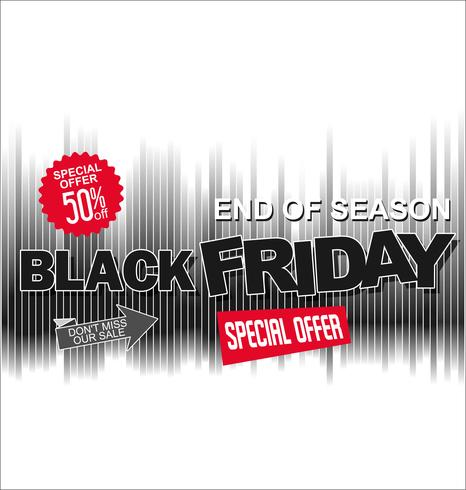 Grande vendita e super offerta di design retrò sfondo Black Friday