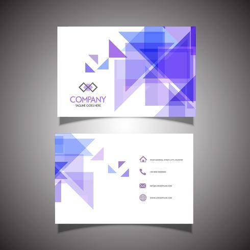 Diseño de tarjeta de visita de poli baja abstracta