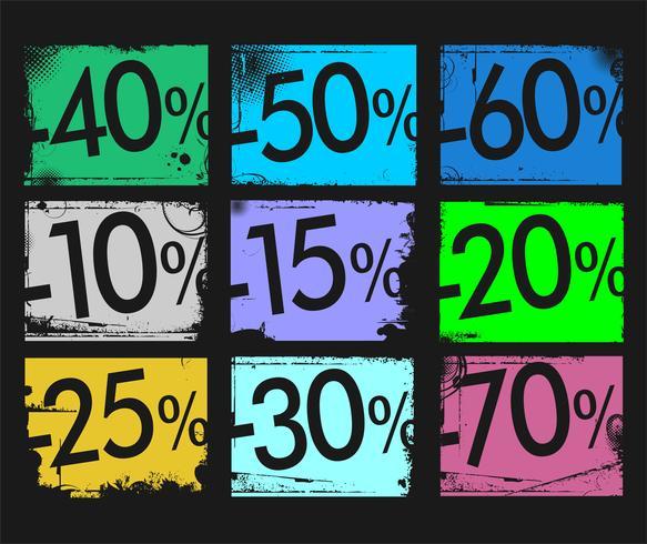 grunge sale background retro design