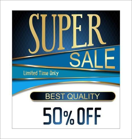 super sale background vector