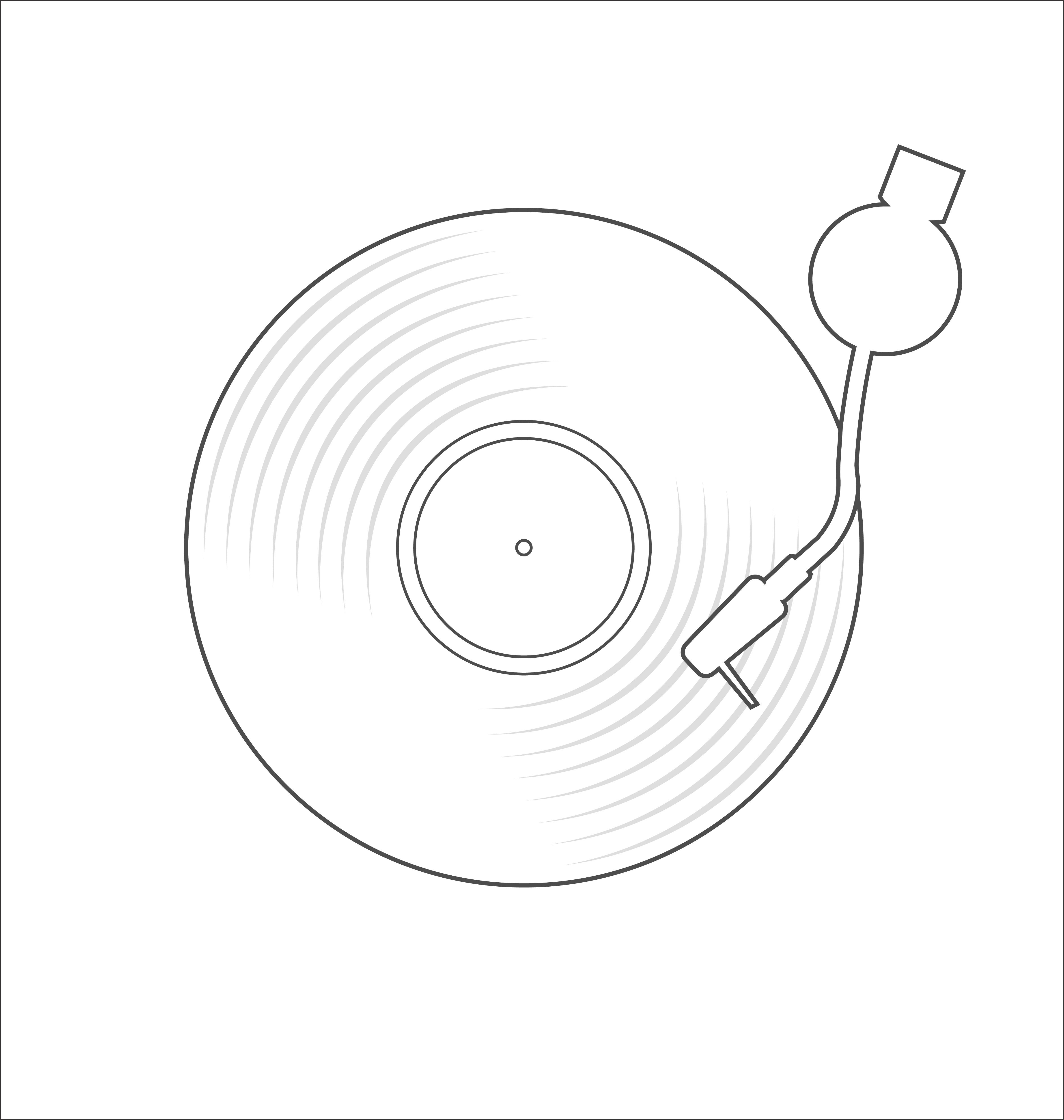 Vinyl Record Disc Flat Simple Concept Vector Illustration