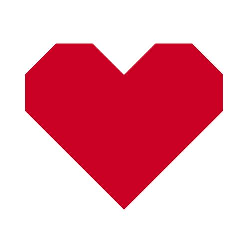 Heart, Symbol of Love and Valentine's Day. Flat Red Icon Isolated on White Background. Vector illustration. - Vector