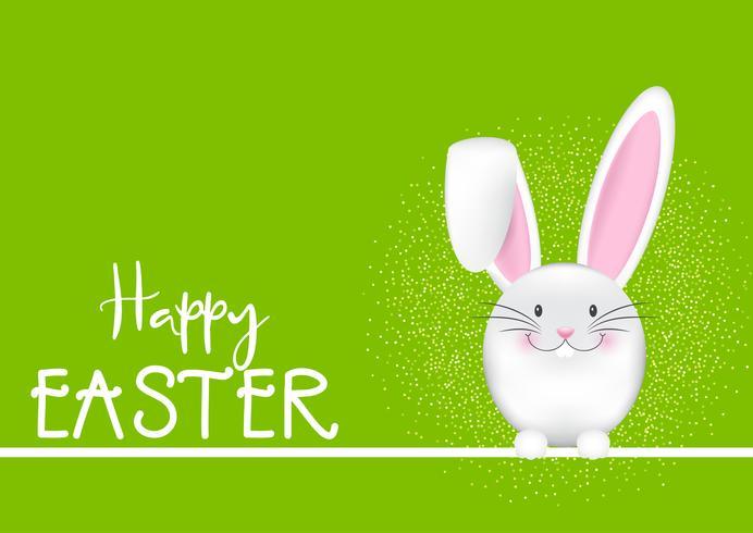 Glad påsk bakgrund med kanin