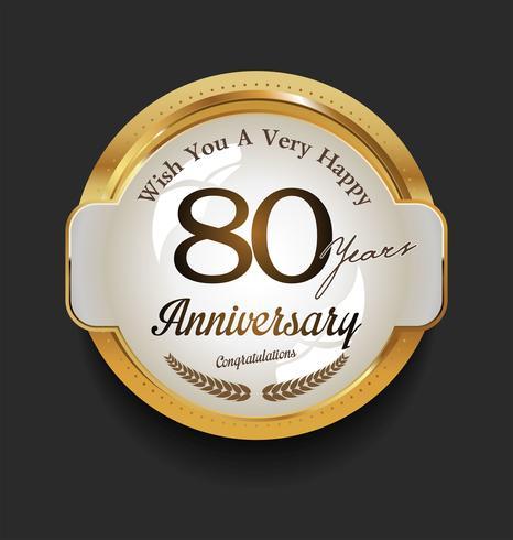 anniversary background vector
