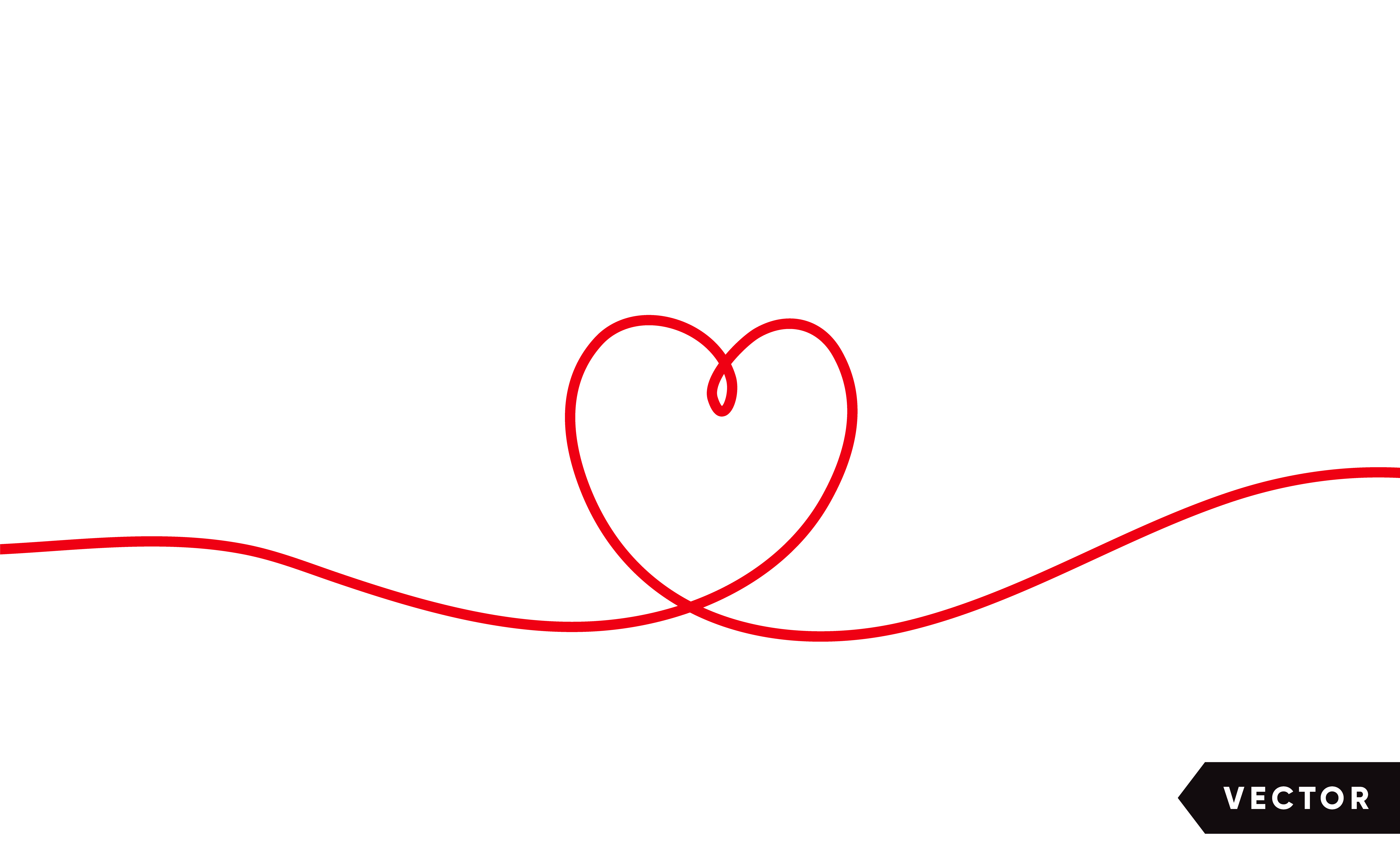 Continuous one line drawing of red heart isolated on white ...