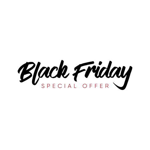 Illustration vectorielle de vente vendredi noir